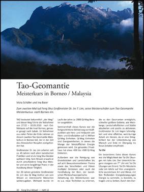 Tao-Geomantie Meisterkurs in Borneo